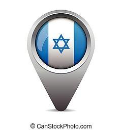 israel, vetorial, ponteiro, bandeira