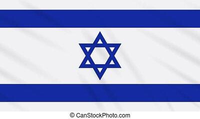 israel, winkende , tuch, fahne, hintergrund, schleife