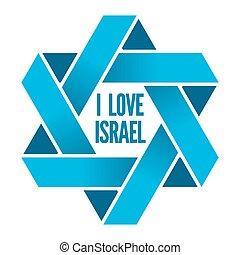 israele, ebraismo, magen, segno, logotipo, davide, o