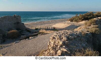 Israeli archaeology site shot clip