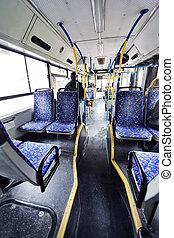 Israeli Bus Winter Morning - Tel-Aviv, Israel - March 4th,...
