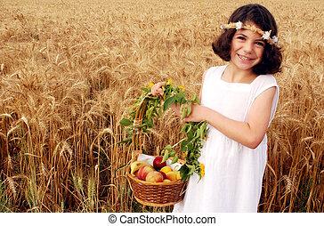Israeli Children Participate in Shavuot Jewish Holiday