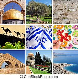 Israeli collage. Travel Israel