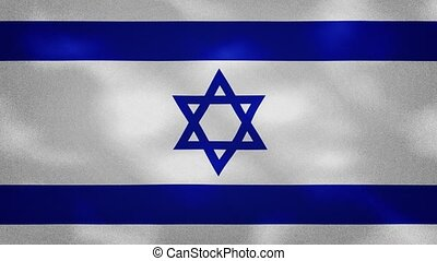 Israel dense flag fabric wavers, perfect loop for background