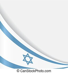 Israeli flag background. Vector illustration. - Israeli flag...