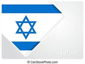 Israeli flag design background. Vector illustration. -...