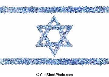 Israeli flag from diamonds