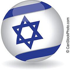 Israeli Flag globe