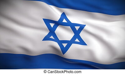 Israeli Flag HD. Looped. - HD 1080. Highly detailed Israeli...