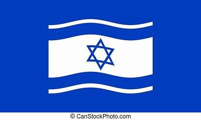israeli flag od dark blue background , computer 3d...