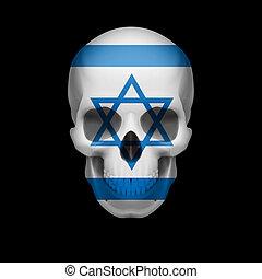 Israeli flag skull