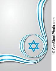 Israeli flag wavy background. Vector illustration. - Israeli...