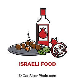 Israeli food and granet wine travel agency promo poster....