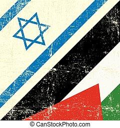Israeli_and_palestinian grunge flag