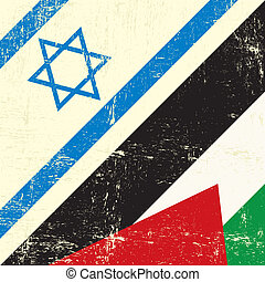 Israeli_and_palestinian grunge flag