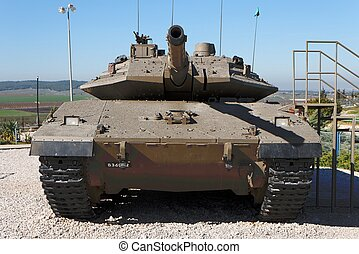 israeliano, serbatoio, corazzato, corpo, merkava, museo, iv,...