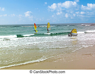 israelisk, havsstrand