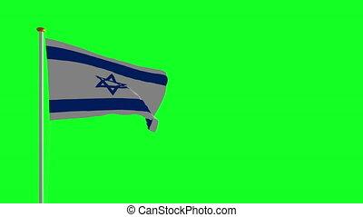 isral, bandera, spadanie, z, przedimek określony przed rzeczownikami, słup