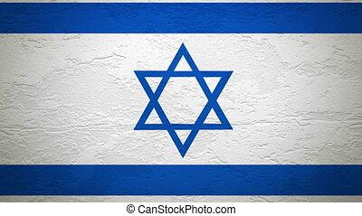 ISREAL flag on wall explosion
