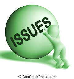 Issues Uphill Sphere Showing Problems Difficulty Or Troubles