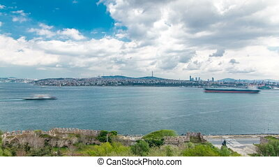 Istanbul and Bosphorus view from the Topkapi Palace...