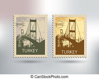 istanbul and the bosphorus bridge