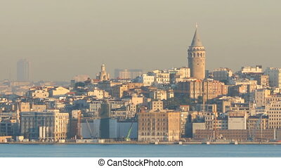 Istanbul at dawn - Spectacular view of Istanbul from...