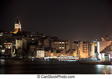 Istanbul at night, Turkey