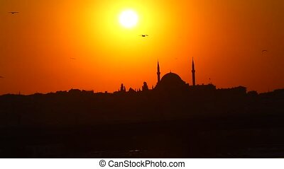 Istanbul at sunset