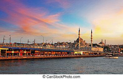 Istanbul at sunset, Turkey