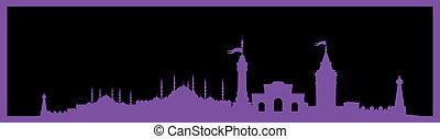 istanbul big city vector art