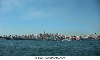 Istanbul Bosphorus b - Bosphorus view of Galata Tower