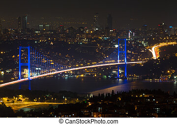 Istanbul Bosphorus Bridge from Camlica Hill