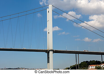 Istanbul - Bosporus Bridge connecting Europe and Asia