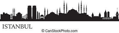 Istanbul city silhouette. Vector skyline illustration