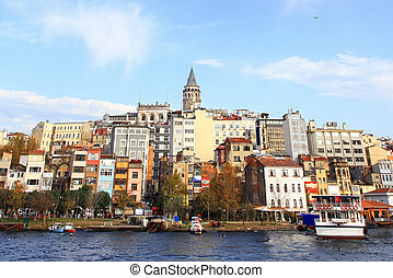 Galata - Istanbul city view with Galata Tower