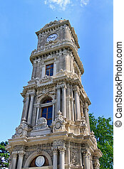 Istanbul Clock Tower near Dolmabahce Palace, Turkey