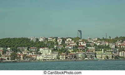 Istanbul coastal - Panoramic view of the new Istanbul...