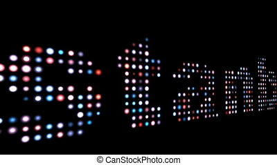 Istanbul colorful led text over black