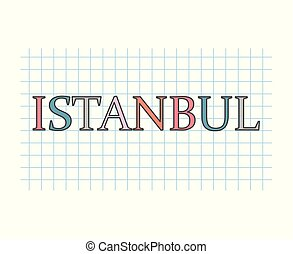 Istanbul concept- vector illustration