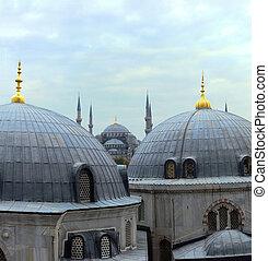 Istanbul domes - sultanahmet and hagia sophia