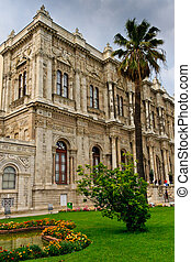 Istanbul - Facade View of Dolmabahce Palace, Turkey