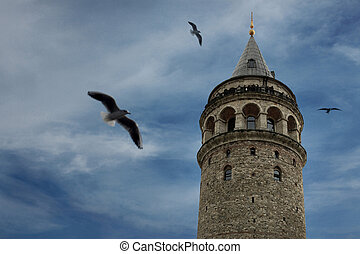 Istanbul Galata Tower - Galata Tower. Istanbul, Turkey.