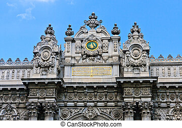 Istanbul - Gate of the Sultan, Dolmabahce Palace, Turkey