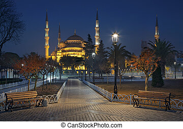 Istanbul. - Image of the Blue Mosque in Istanbul, Turkey...