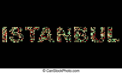 Istanbul led text