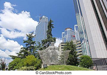 istanbul, moderno, centro, monumento