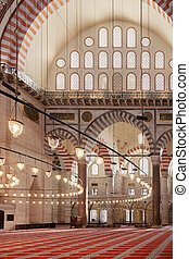 Istanbul mosque interior
