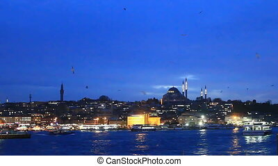 Istanbul night in blue