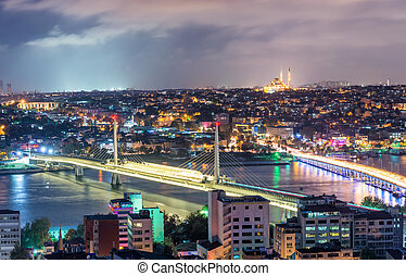Istanbul night skyline